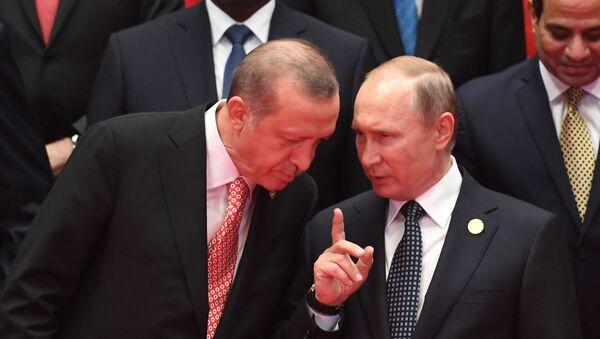 Vladimir Putin i Redžep Tajip Erdogan na samitu G20 u Kini - Sputnik Srbija