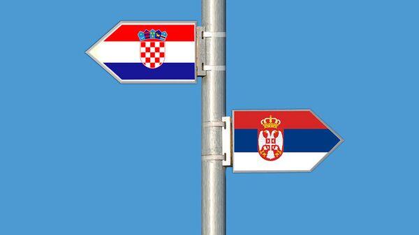 Hrvatska i srpska zastava - Sputnik Srbija