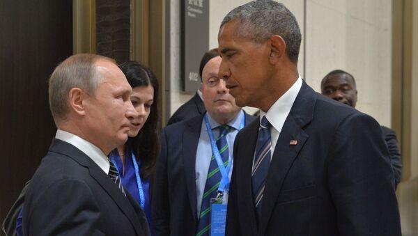 Predsednik Rusije Vladimir Putin i predsednik SAD Bark Obama - Sputnik Srbija