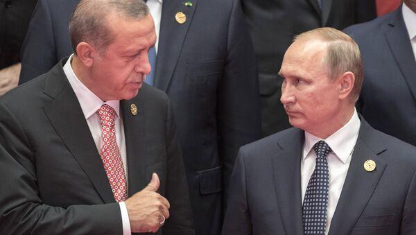 Владимир Путин и Реџеп Тајип Ердоган на самиту Г20 у Кини - Sputnik Србија