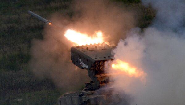 Teška raketni sistem TOS-1A Solncepek - Sputnik Srbija