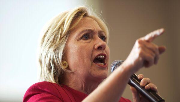Кандидат Демократске партије за председника САД Хилари Клинтон током предизборне конвенције у Филаделфији - Sputnik Србија