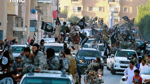 Терористи ДАЕШ-а у граду Рака, Сирија - Sputnik Србија