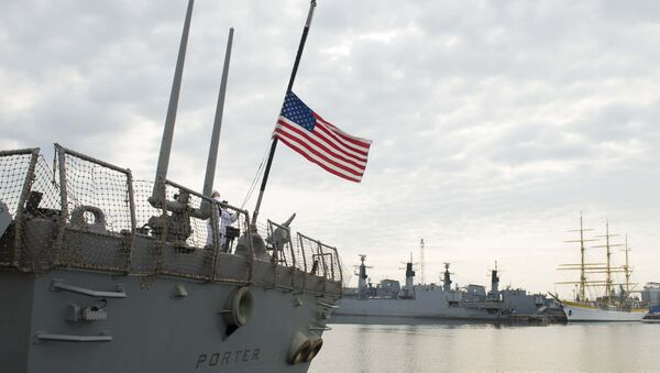 Raketni razarač američke mornarice USS Porter (DDG 78) u luci Konstanca u Rumuniji - Sputnik Srbija