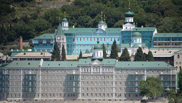 Manastir svetog Pantelejmona na Svetoj Gori - Sputnik Srbija