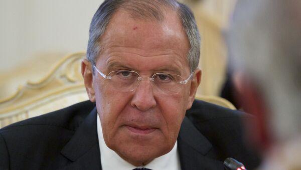 Ruski ministar spoljnih poslova Sergej Lavrov tokom sastanka sa svojim kolegom iz Luksemburga Žanom Aselbornom u Moskvi. - Sputnik Srbija