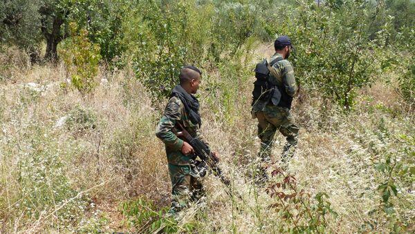 Сиријске владине снаге у провинцији Латакија - Sputnik Србија