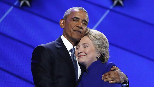 Барак Обама и Хилари Клинтон - Sputnik Србија
