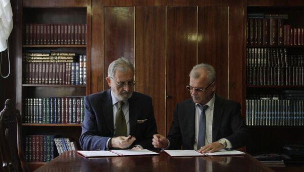Potpisivanje Sporazuma o saradnji između Matice srpske i Ruske državne biblioteke - Sputnik Srbija