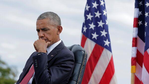 Američki predsednik Barak Obama na ceremoniji obeležavanja 15. godišnjice terorističkog napada - Sputnik Srbija