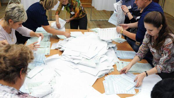 Бројање гласова за изборе за Државну думу - Sputnik Србија