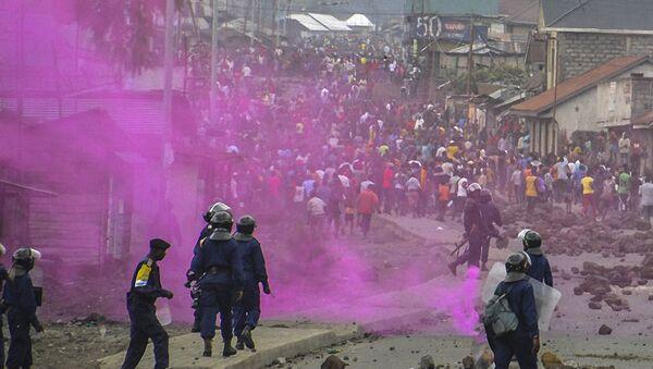Полиција и демонстранти на протестима у Гоми, Конго, 19. септембра 2016. - Sputnik Србија