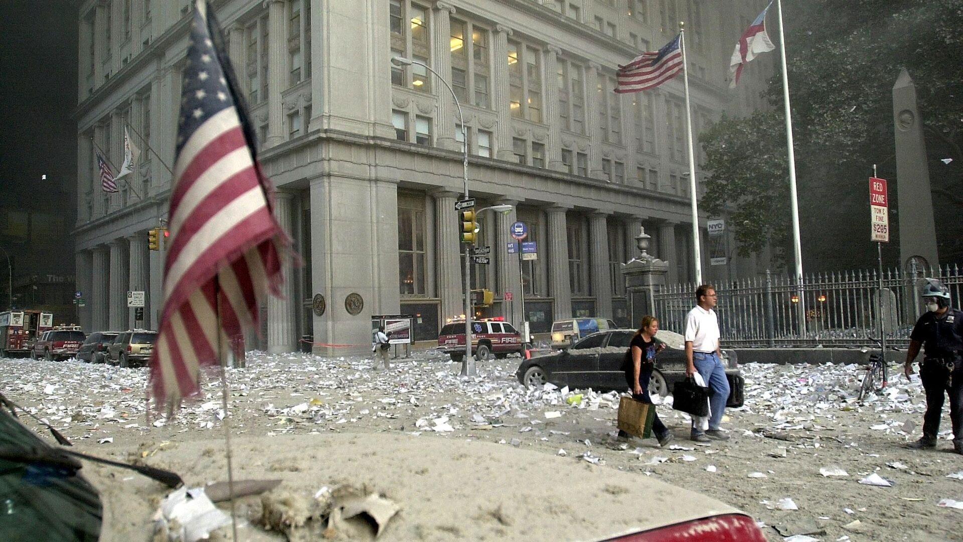 Teroristički napad na Svetski trgovinski centar u Njujorku 11. septembara 2001. godine  - Sputnik Srbija, 1920, 11.09.2021