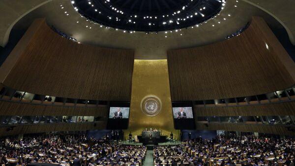 Predsednik SAD Barak Obama govori na 71. zasedanju Generalne skupštine UN - Sputnik Srbija