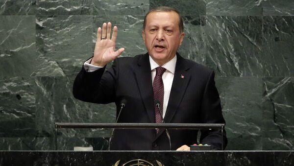 Predsednik Turske Redžep Tajip Erdogan govori na 71. zasedanju Generalne skupštine UN - Sputnik Srbija