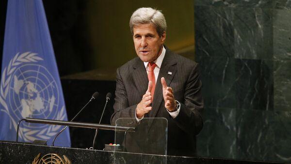 Амерички државни секретар Џон Кери на седници Генералне скупштине УН - Sputnik Србија