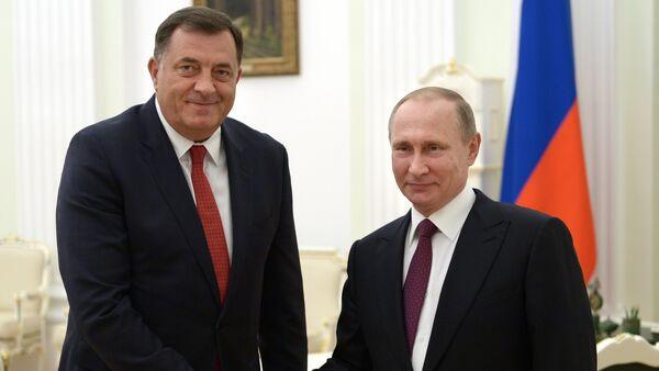 Milorad Dodik i Vladimir Putin u Kremlju - Sputnik Srbija