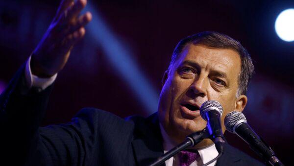 Predsednik Republike Srpske Milorad Dodik na slavlju posle referendima u RS - Sputnik Srbija