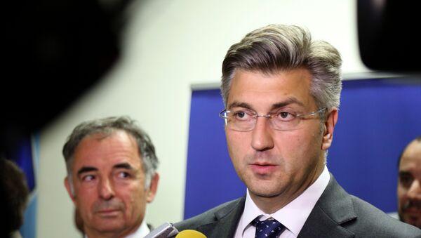 Predsednik HDZ-a Andrej Plenković - Sputnik Srbija