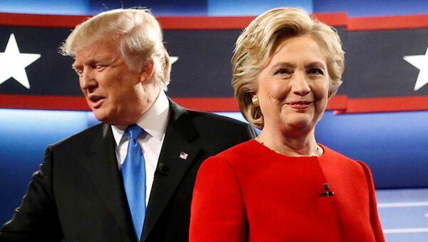 Кандидат Републиканске партије Доналд Трамп и кандидат демократа Хилари Клинтон - Sputnik Србија