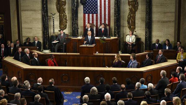 Амерички председник Барак Обама говори у Конгресу - Sputnik Србија