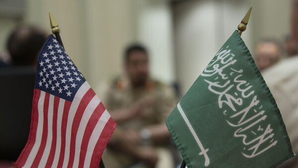 Zastava Amerike i Saudijske Arabije - Sputnik Srbija