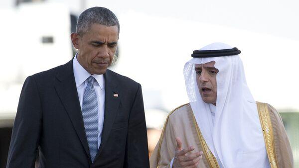 Predsednik SAD Barak Obama i ministar spoljnih psolova Saudijke Arabije Adel el Džubeir - Sputnik Srbija