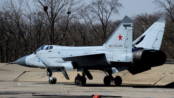 MiG-31BM pred poletanjem u Vladivostoku - Sputnik Srbija