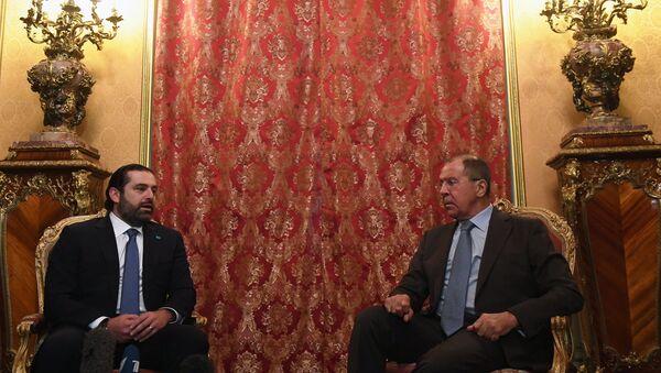 Лидер либанског политичког покрета Ал Мустакбал, Саад Харири и министар спољних послова Русије Сергеј Лавров - Sputnik Србија