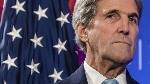 Američki državni sekretar Džon Keri govori na konferenciji o budućnosti Transatlantskih odnosa u Briselu - Sputnik Srbija