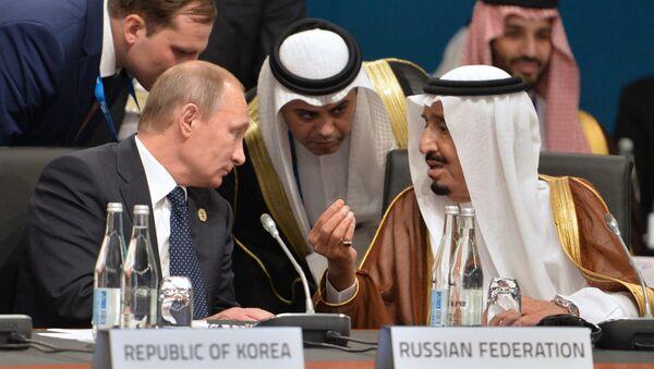 Председник Русије Владимир Путин и престолонаследник и министар одбране Саудијске Арабије Салман бин Абдулазиз ел Сауд - Sputnik Србија