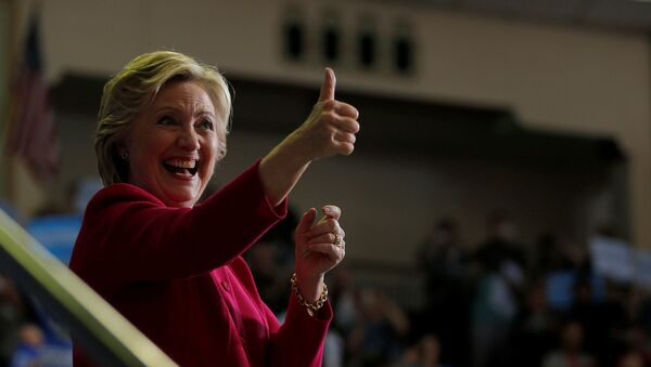 Кандидат Демократске партије за председника САД Хилари Клинтон током митинга у Харисбургу у држави Пенсилванија - Sputnik Србија