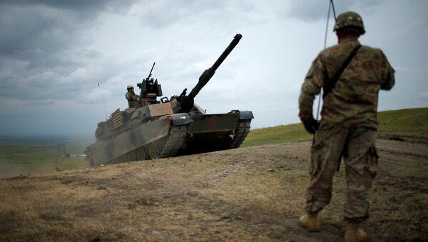 Амерички тенк М1А2 Абрамс током војне вежбе у Грузији - Sputnik Србија