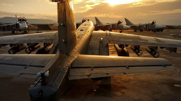 Руски војни авиони у бази Хмејмим у Сирији - Sputnik Србија