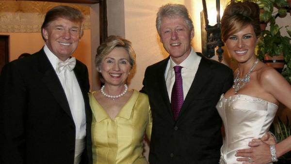Бил и Хилари Клинтон на венчању Доналда и Меланије Трамп. - Sputnik Србија