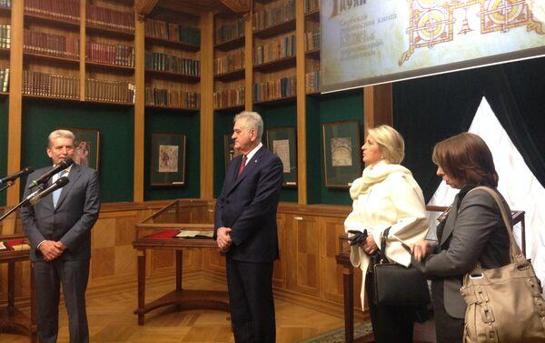 Predsednik Srbije Tomislav Nikolić u Ruskoj nacionalnoj biblioteci u Sankt Peterburgu - Sputnik Srbija