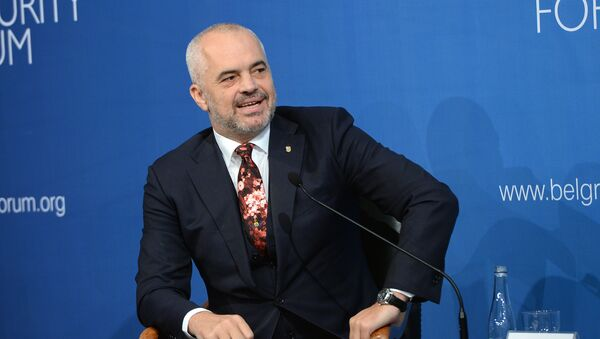 Албански премијер Еди Рама на Безбедносном форуму у Београду - Sputnik Србија