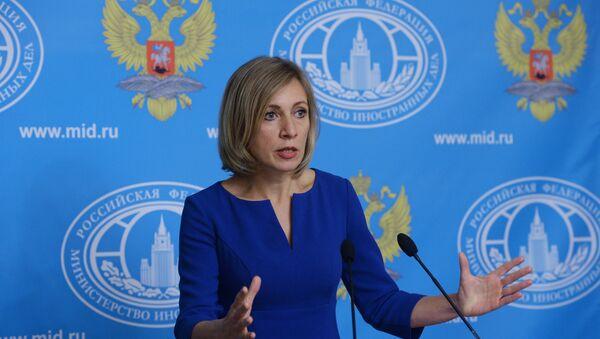 Портпарол руског Министарства спољних послова Марија Захарова говори на конференцији за медије - Sputnik Србија
