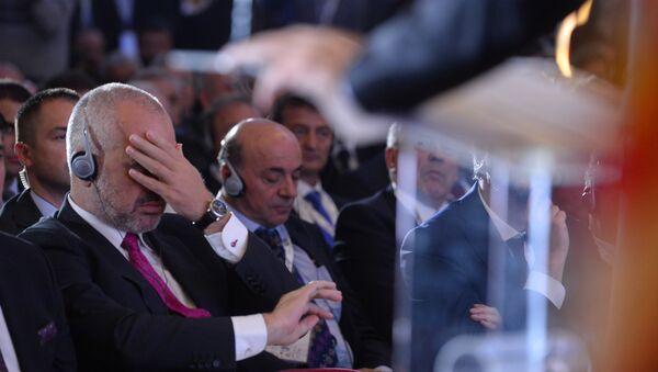 Predsednik Vlade Republike Albanije Edi Rama na Poslovnom forumu Srbija-Albanija u Nišu - Sputnik Srbija