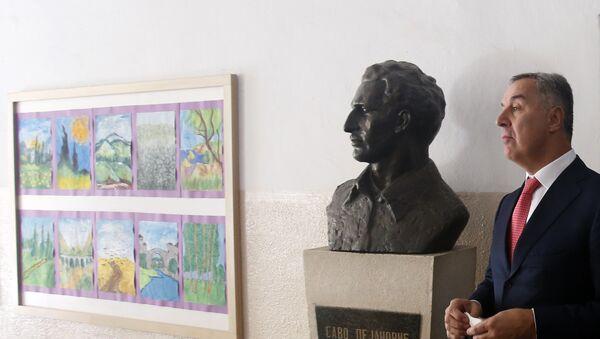 Црногорски премијер Мило Ђукановић на бирачком месту - Sputnik Србија