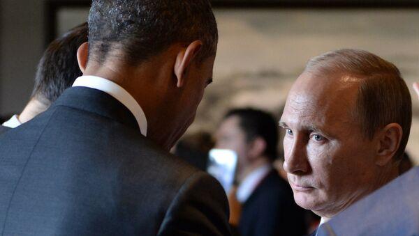 Predsednik Rusije Vladimir Putin i predsednik SAD Barak Obama - Sputnik Srbija