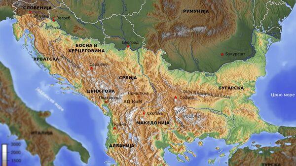 Mapa Balkana - Sputnik Srbija