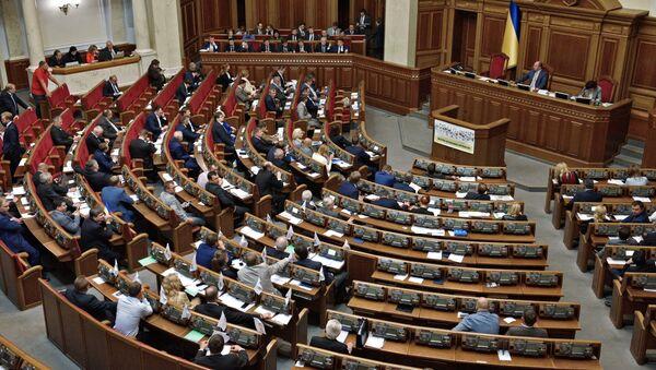 Депутаты на заседании Верховной рады Украины в Киеве - Sputnik Србија
