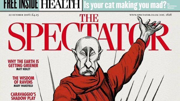 Насловна страна недељног британског часописа Спектатор - Sputnik Србија