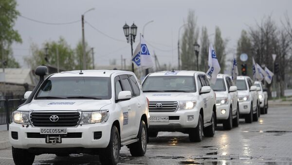 Automobili misije OEBS-a u Donjecku - Sputnik Srbija