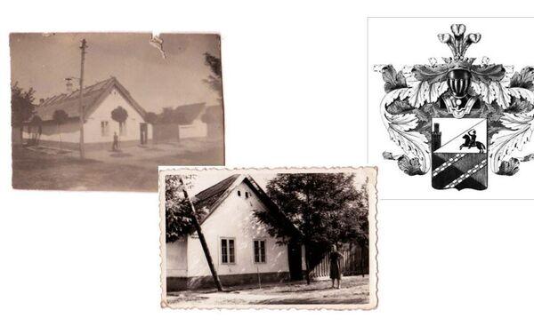 Кућа у Улици Бранислава Нушића бр. 1 у којој је становао Иван Чарторижски  (лево 1930. и фото десно 1943. година) и грб породице Чарторижски - Sputnik Србија