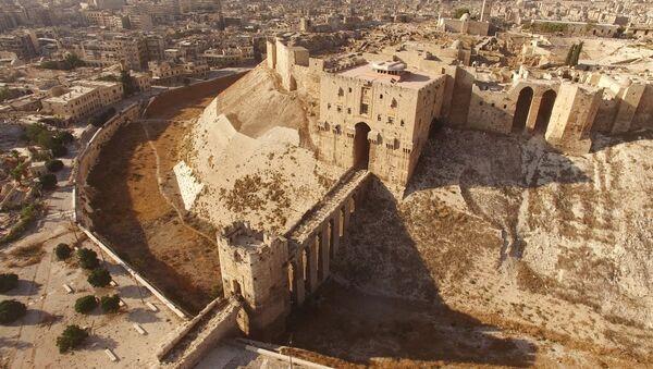 Поглед на Цитаделу у Алепу, коју су окупирали терористи. - Sputnik Србија