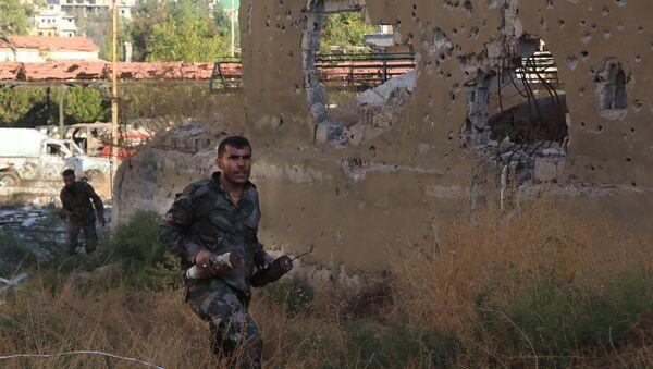 Sirijski vojnici u Alepu. - Sputnik Srbija