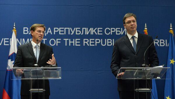 Premijer Slovenije Miro Cerar i premijer Srbije Aleksandar Vučić - Sputnik Srbija