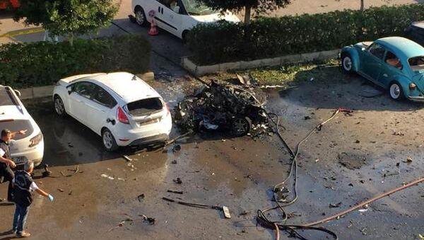 Pripadnici policije istražuju mesto eksplozije u turskoj Antaliji - Sputnik Srbija